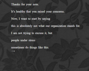 Apology Simulator Looks At Weak, Inadequate, Dismissive, And Unacceptable Requests For Forgiveness